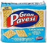 Gran Pavesi Cracker a Ridotto Contenuto di Sale I Classici - 18 Pacchetti (560 gr)