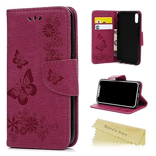 iPhone X Móvil Mavis 's Diary Teléfono Móvil mariposa patrón piel