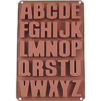 Amazon Brand – Umi - lettres moule en silicone moule à savon moule de cuisson moule à chocolat (26 lettres)
