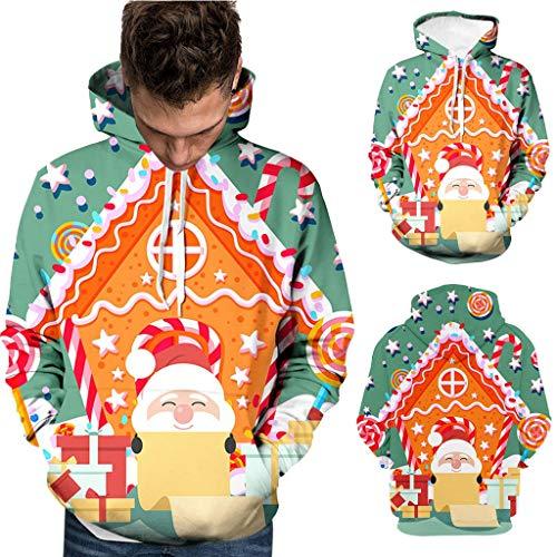 ODRD Unisex Ugly Hoodie - Männer Frauen Casual 3D große Lieferung Lustiger Kapuzen Langarm Mantel Pullover - Hässliche Pulli Weihnachtspulli Damen Herren Weihnachtsparty Sweatshirt -