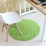 KYDJ Runden Teppich Teppich Teppich computer Fitness yoga Sitzkissen Schlafzimmer Wohnzimmer Bett Fußbodenbelag (Farbe: Grün, Größe: Durchmesser 90 cm)