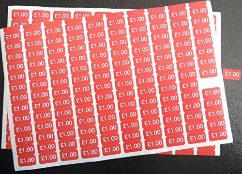 100-White-on-Red-178x10mm-Price-Promotional-Display-Stand-Point-of-Sale-Stickers-Self-Adhesive-Labels