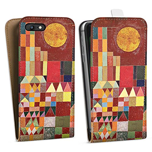 Apple iPhone X Silikon Hülle Case Schutzhülle Paul Klee Castle and Sun Kunst Downflip Tasche weiß