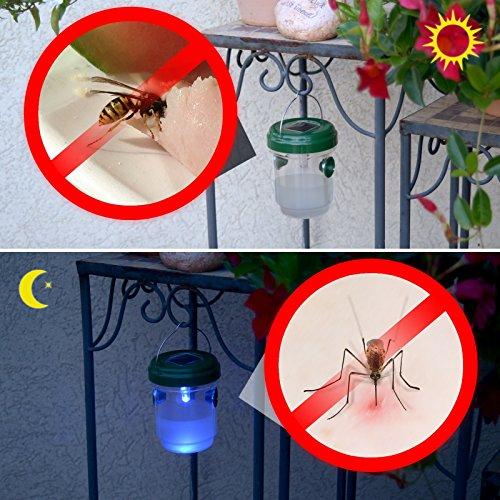 Gardigo - Piège à Guêpes Piège à Mouche Solaire avec Lumière LED Set de 4