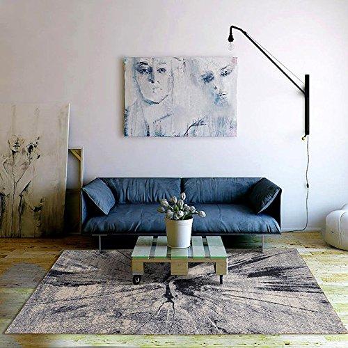 Qwer Das Wohnzimmer Teppich Tabellen und Modernen, minimalistischen Schlafsofa Rechteck Teppich Schlafzimmer home Teppich, 160 CM × 230 CM, Nordic Carbon Teppiche