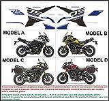 Kit adesivi decal stikers YAMAHA MT 09 FJ 09 TRACER 2015 2017 RACE (INDICARE IL MODELLO A o B o C o D)