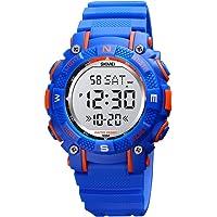 Orologio digitale da polso per bambini, 7 colori, impermeabile, per sport all'aperto, analogico, con sveglia, timer…