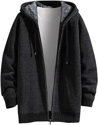Men's Autumn Winter Casual Solid Hoodie Jacket Coat Men Sweatshirt Tops