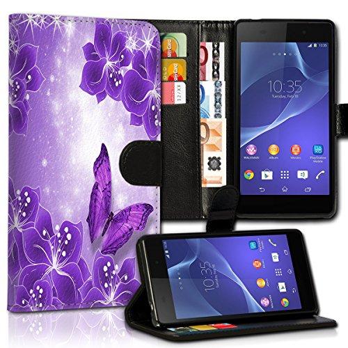 Wallet Book Style Flip Handy Tasche Case Schutz Hülle Schale Motiv Etui für Apple iPhone 4 / 4S - Variante UMV14 Design12 Design 12