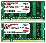 Komputerbay 8GB 2X 4GB DDR2 800MHz PC2-6300 PC2-6400 DDR2 800 (200 PIN) SODIMM Memoria computer portatile