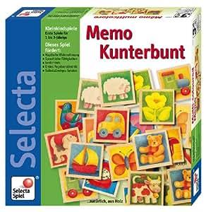 Selecta 3582 - Classico gioco memory in legno, soggetti: animali [importato dalla Germania]