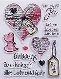 Stempel Set Clear Stamp transparent in verschiedenen Motiven (Hochzeit Herz Groß)