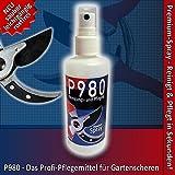 P980 - Reinigungs- und Pflege-Öl Premium-Spray für Gartenscheren, Rosenscheren und Messer - Rostschutz und Schmier-Mittel