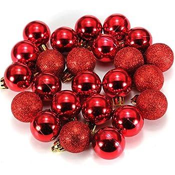 Ornament Ball  SODIALR24Pcs Chic Christmas Baubles Tree Plain