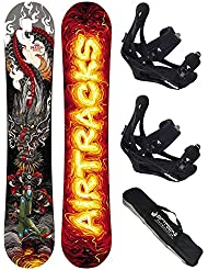 AIRTRACKS SNOWBOARD SET - TABLA DRAGON SOUL 150 - FIJACIONES SAVAGE L - BAG/ NUEVO