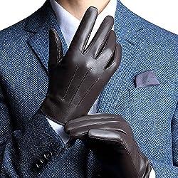 Harrms guantes de hombre para invierno de mejor genuino Nappa mejor cuero forro cachemira mecanografiar/conducir disponible