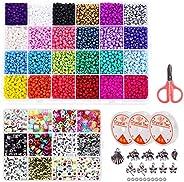 ESSEN 3800 pcs Seed Beads and 880 pcs Alphabet Beads Jewellery Making DIY Bracelet Craft Kit for Girls