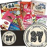 27. Geburtstag | Süßigkeiten Geschenkset | Süßes DDR Geschenk Set mit aquarellem Aufkleber
