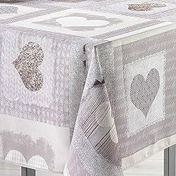 Mantel rectangular (L240 cm) Cosy Corazón