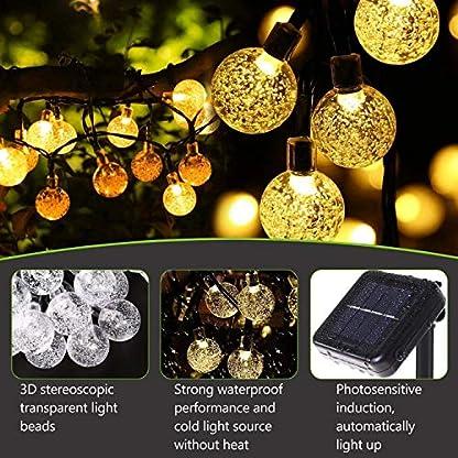 LED-Solar-Lichterkette-Kristall-Kugeln-45-Meter-30er
