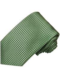 Paul Malone corbata de seda (longitud normal, extra larga o estrecha) dorado canela uni
