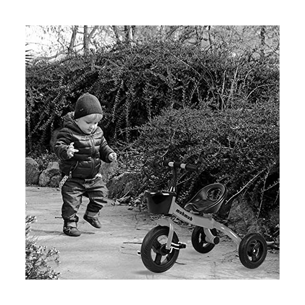TX Baby Tricycle 3-6 Years Old Children Boys Girls 3 PU Wheel Toddler Pedal,Orange TX Security sponges, environmental protection, protection of baby riding safety. Natural rubber handle grip comfortable, non-slip texture. Pre-basket, carefully intimate care. 4