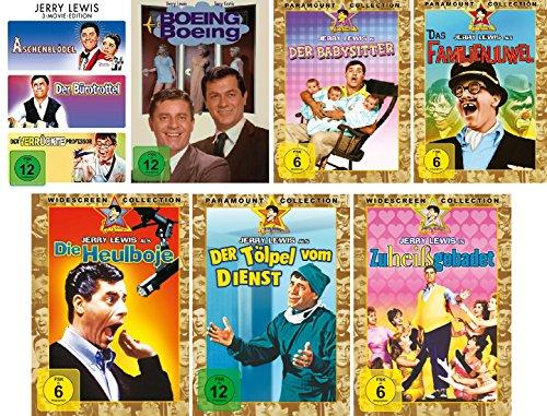 Jerry Lewis - 9 Filme Set (3 Movie Edition: Aschenblödel/Bürotrottel/verrückter Professor + Boing Boing + Babysitter + Familien
