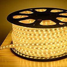 Galaxy Lighting Water Proof 10 Meter Led Rope Light,Color: Warm White With Adapter