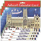 Alison Gardiner Pack of 4 Traditional Advent Calendar Cards - Christmas at the Cathedral by Alison Gardiner Designs Ltd