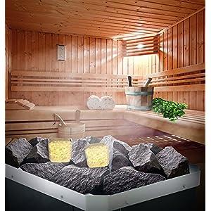"""Salz für die Badstube und die Sauna mit ätherischem Zederöl, Lavendelöl, Zitrusöl oder Apfelsinenöl.Bei der Hitze auf den Steinen verdampft als aromatische """"Dampfwolke"""". (Zitrone)"""