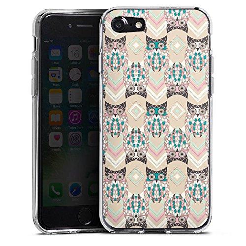 Apple iPhone X Silikon Hülle Case Schutzhülle Eulen Pastell Muster Silikon Case transparent