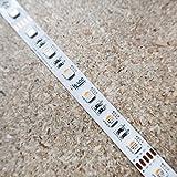 RGBW LED-Streifen (RGB+WW) 24V-14.4W/m- IP00-CRI80-12mm/2oz PCB-10m Rolle