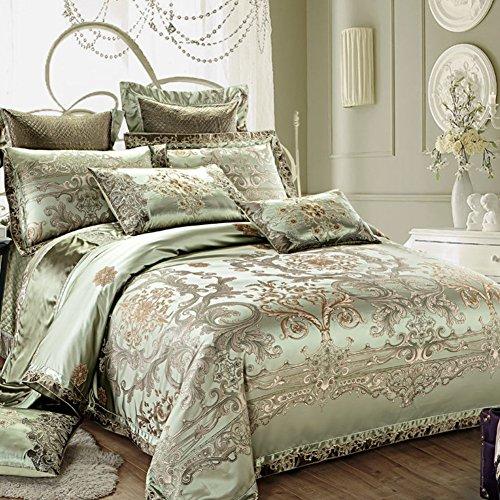 JYTT Home Mode Queen Size Bett tröster, 10 stück Bett in Einem Beutel Jacquard Ultra Soft Mikrofaser Schlafzimmer Bettdecken Sheets Kissenbezüge-A King - King-size-bett Aus Beutel Mikrofaser In Einem