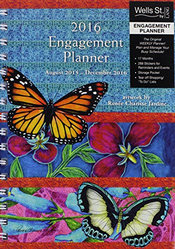 Wells Street by Lang Butterflies 2016 Engagement Planner by Renee Charisse Jardine, August 2015 to December 2016, 6.5 x 8.5 Inches (7005084) by Lang