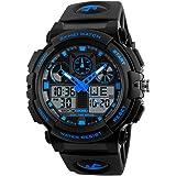 SKMEI Analogue - Digital Men's & Boy's Watch (Black Dial Black Colored Strap)