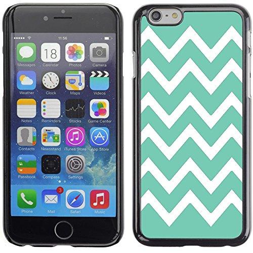 Graphic4You Chevron Muster Harte Hülle Case Tasche Schutzhülle für Apple iPhone 6 Plus / 6S Plus (Aqua Blau) Aqua Blau