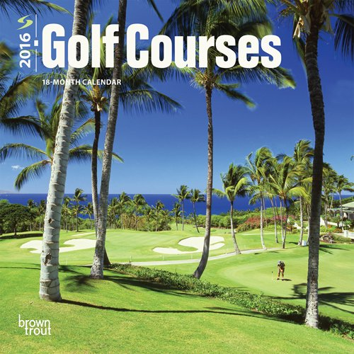 Golf Courses 2016 Mini Wall por Browntrout Publishers