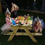 Gartenset für Kinder mit Sandkasten, Holz-Picknicktisch und Gartenbank mit 4 Sitzen