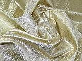 Regal gewebter Metallic-Brokatstoff, Goldfarben, Meterware