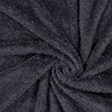 Fabulous Fabrics Teddy Plüsch Kuschel schwarz —