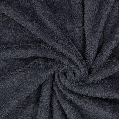 Teddy Plüsch Kuschel Schwarz — Meterware ab 0,5m — Zum Nähen von Jacken und Mänteln, Accessoires und Pullovern