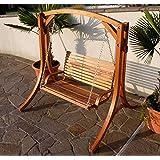 Design Hollywoodschaukel Gartenschaukel Hollywood Schaukel KUREDO-OD aus Holz Lärche von AS-S