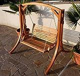 Design Hollywoodschaukel Gartenschaukel Hollywood Schaukel KUREDO-OD aus Holz Lärche von