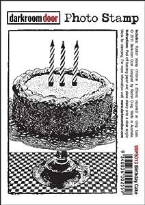Porte Photo Darkroom Tampon en caoutchouc en forme de gâteau d'anniversaire