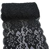 15cm noir broderie florale extensible dentelle élastique Garniture Tissu pour l'habillement et de bricolage Craft Supply- 5 Jardin
