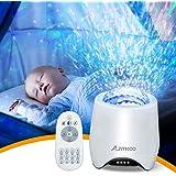 Lampe Projecteur Veilleuse, Azmkoo LED Projecteur Étoile Bluetooth Projecteur Ciel Lecteur Musique à Couleurs Lampe Chevet Pr