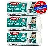 Kosmetik Müllbeutel - 10 Liter - 3er Pack - 120 Stück - Ideal für Kosmetikeimer