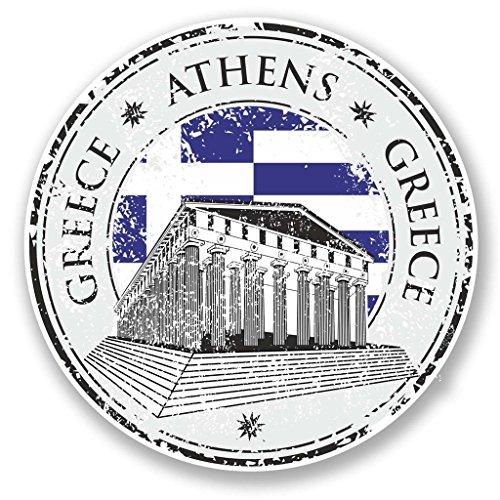 Preisvergleich Produktbild 2x Griechenland Athen Vinyl Aufkleber Aufkleber Laptop Reise Gepäck Auto Ipad Schild Fun # 6084 - 10cm/100mm Wide