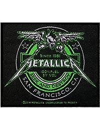 Metallica parche Beer Label Patch tejida 10x 9cm