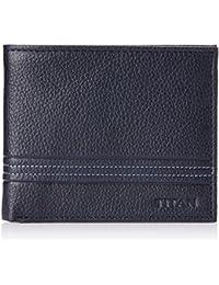 Titan Semi Formal Navy Blue and Grey Men's Wallet (TW176LM1BU)